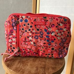 Vera Bradley travel toiletries bag coral florals
